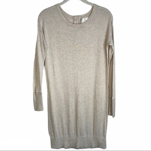 Ruby Moon Oatmeal Lightweight Tunic Dress Sweater